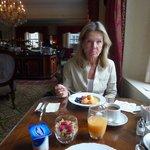 Beim Frühstück im Tower