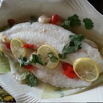 Basa fish steamed with Rice