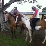Happy times horse riding