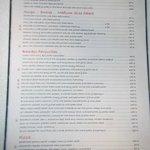 Bamboo Bar & Grill Menu