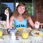 Tavoli della colazione all'aperto