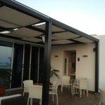 Roof top terrace at Hotel Santiago