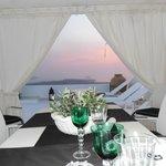 last night dinner on the terrace