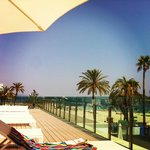 view from the sunbeds
