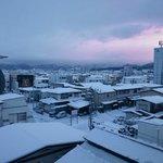 部屋から雪景色