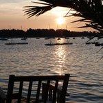 Coucher de soleil depuis le Café du port