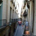 Vista desde el balcón, calles del Gótico