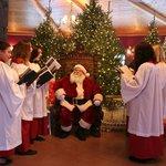 santa & carolers at Winter Wonderland