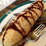 crepe with ice cream