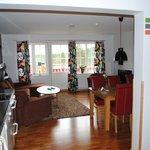 Öppet kök och vardagsrummet