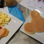all you can eat breakfast buffet with mickey pancake made to order