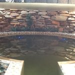 The enclosed hot salt pool