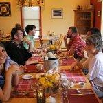 Family dinner celebrating graduation