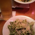 Salad and beer