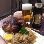 """Our chef's take on the German dish """"schweinshaxe"""" - perfect with Bavarian lager!"""
