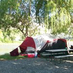 Tenting by the river's edge
