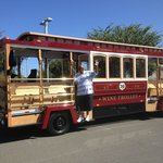 My hubby on the Napa Wine Trolley!