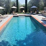The new pool area
