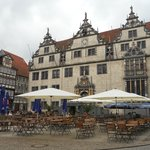 town square 2 mins walk from hotel