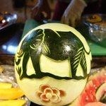 geoffrey's fruit carving skills