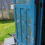 Beautiful yurt door