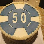 Dad's 50th Birthday Poker Chip Cake