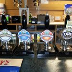 Just a selection of ales on offer, there is more!!