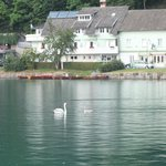 View of hotelduring one of our rowing boat trips. Peaceful.
