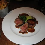 Lamb Rump menu item - Medallions of roasted rolled lamb