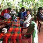 """Hanging out in the """"Comedor"""" and relaxing with organic coffee from the Finca"""