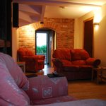Lounge in the evening, stable cottage