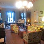 The upstairs salon