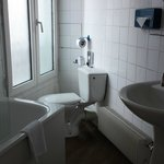 A shaped bathroom