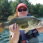 My wife caught this bass less than 10 minutes from Caiger's.
