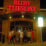 Loving our visit to Ruby Tuesday!