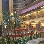 Lobby and fountain