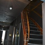 steep and narrow stairway