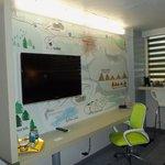 Map Mural, nice desk