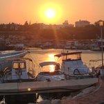Sun set at the church harbour