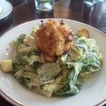 Todays special, crab cake on ceaser salad