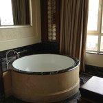 window-side soaking tub
