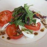 Plum Tomato & Mozzarella Salad, Walnut & Basil Pesto