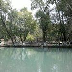 El lago en medio de la hacienda