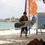 Kite surfing at the hotel beach