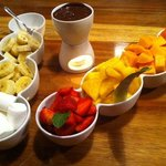 La fondue au chocolat