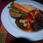 Beef with fresh vegetables!