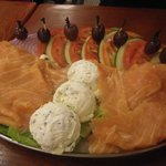 Lox platter for three