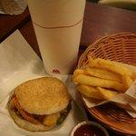 Rice burger meal at MOS