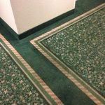 Hallway dirty carpet