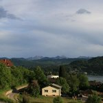 Looking from the front lawn toward the Worthersee